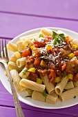 Whole Grain Rigatoni with Chunky Tomato Sauce