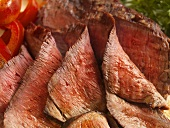 Sliced Roast Beef; Close Up