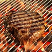 Sirloin Steak on a Grill; Flames