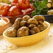Funghi in marinata (Marinated mushrooms, Italy)