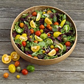 Fresh Garden Salad with Mixed Greens and Tomatoes