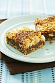 Coconut Dream Bars on a Plate