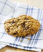 Oatmeal Raisin Cookie on Folded Towel