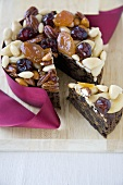 Fruit and Nut Cake; Slice Removed