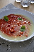 Iced Melon and Strawberry Soup