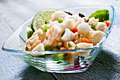 Ceviche in a Glass Bowl