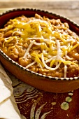 Frijoles Refritos; Refried Beans Topped with Cheese