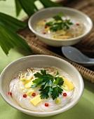 Glasnudelsuppe mit Bambussprossen (Vietnam)