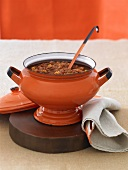 Chili in an Orange Pot