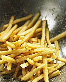 Hot French Fries Salted in Steel Bowl Ready to Server