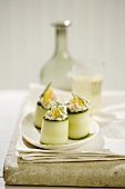 Skagen Rolls: Shrimp, Crayfish and Crab Served in Courgette Rolls
