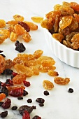 Dried Golden Raisins, Currants and Cranberries