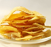 Pile of Potato Chips on a Plate