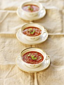 Three Bowls of Tomato Soup
