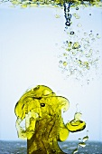 Olive Oil Splash in Water