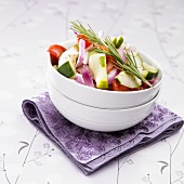 Cucumber Tomato Salad with Red Onion