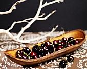 Cherries in Wooden Dish