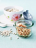 Dry and Cooked Navy Beans