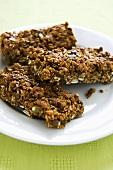 Pumpkin Seed and Ginger Granola Bars