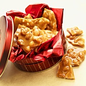 Peanut Brittle in a Gift Tin