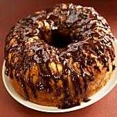 Bundt Cake with Chocolate Sauce
