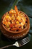 Caserola de Camarones Enchilados; Cuban Shrimp Casserole