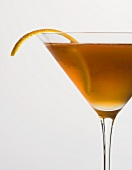 Bourbon Martini with Citrus Garnish