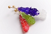 Four Assorted Rock Candy Sticks