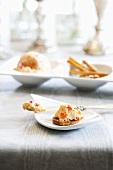 Cream Cheese Spread on a Cracker