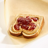 Piece of Bread with Peanut Butter and Jelly