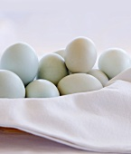 Organic Eggs in Cloth Lined Bowl