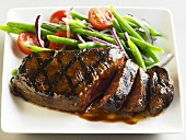 Grilled Steak in Teriyaki Sauce with Vegetables
