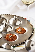 Spicy Tomato Curry on Silver Serving Platter