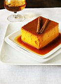 Flan with Cinnamon Sticks and Sherry