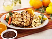Grilled Citrus Chicken with Rice and Veggies