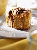 Monkey Bread Cinnamon Roll on a Plate