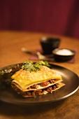 Serving of Polenta Lasagna