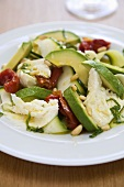 Avocado, Mozzarella and Sun-dried Tomato Salad