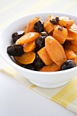 Bowl of Roasted Carrots with Chestnuts