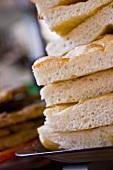 Stack of Bread at Italian Market