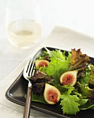 Organic Mixed Lettuce Salad with Celeste Figs