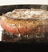 Hamburger Cooking in Skillet