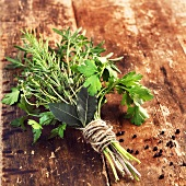 Bouquet garni (thyme, rosemary, parsley and bay leaves)