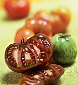 Sliced Heirloom Tomato with Whole Heirloom Tomatoes