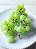 Green Grapes on Plate