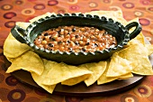 Black Bean and Corn Salsa with Chips