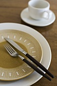 Place Setting with Modern Salad Plate and Flatware