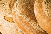 Three Loaves of Fresh Baked Bread