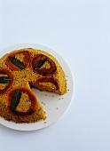 Quinoa and Butternut Squash Pie; Slice Removed