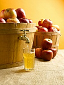Apple Juice Coming from Basket of Apples